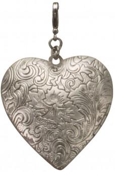 Trachten-Anhänger Amulettherz altsilber
