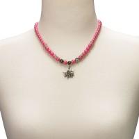 Vorschau: Trachtenkette kleines Edelweiß pink