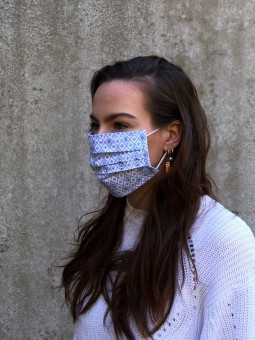 Mund-Nasen-Maske Lea kornblau