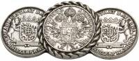 Vorschau: Trachten Brosche Freistaat Wappen