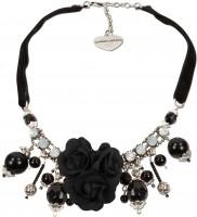 Vorschau: Blüten-Collier Rosalie schwarz