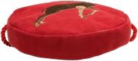 Vorschau: Trachten Rundtasche mit Hirsch-Stickerei rot