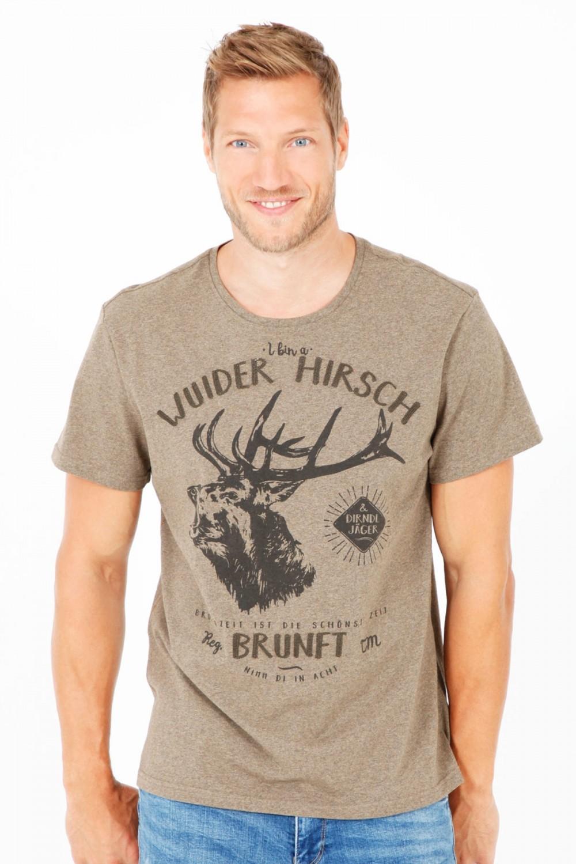5b31677636e37 Trachten T-Shirt Wuider Hirsch