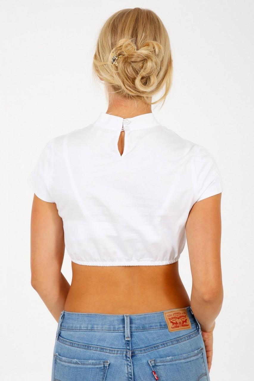 Dirndlbluse Celina Weiß