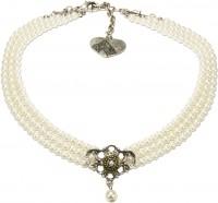 Vorschau: Perlenkropfkette Hannah weiß
