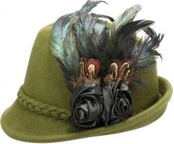 Filcowa czapka Rosalie zielona