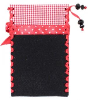Handytasche Alpenherz-Edelweiß schwarz-rot
