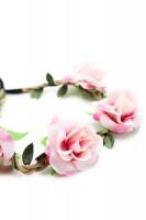 Vorschau: Haarband mit Rosen in Rosa