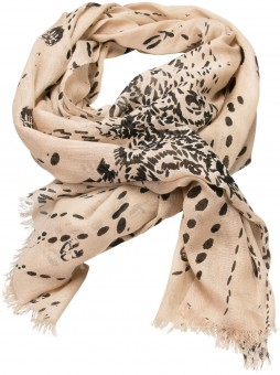 Trachten Scarf with Deer-Print, Cream