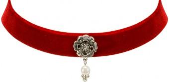 Trachten Kropfband mit Ornament rot