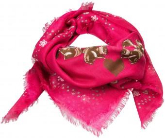 Trachtentuch Lebkuchenherz pink
