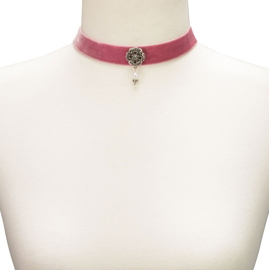 Trachten Kropfband mit Ornament rosa