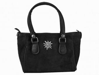 Mini Handtasche Edelweiß schwarz