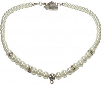 Perlenhalskette Amelie silber