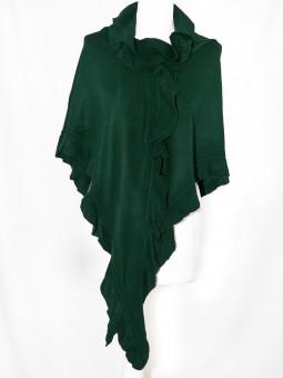 Poncho dunkelgrün