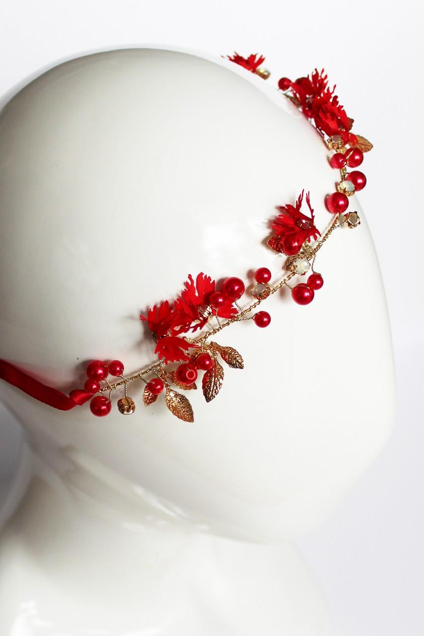 Roter Haarkranz Daisy