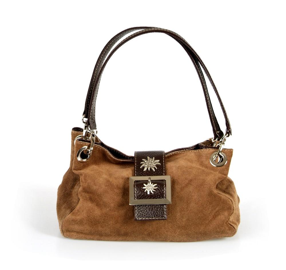 Handtasche Wildleder hellbraun