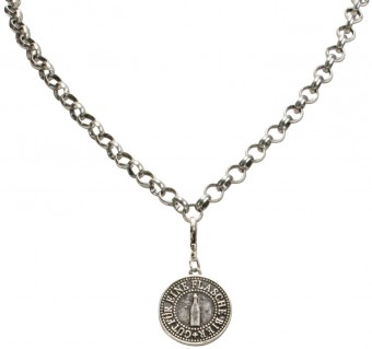 Trachten Beer Token Pendant, Antique Silver