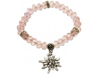 Trachten Perlenarmband Fiona Crystal rosa