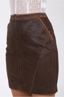 Samantha leather skirt