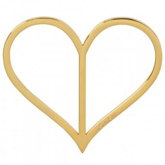 Dirndlspangerl Herz gold