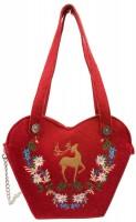 Vorschau: Filz-Trachtentasche Hirsch rot