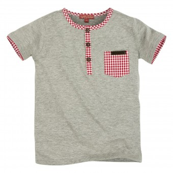 T-Shirt mit Knopfleiste (Kids T-Shirt 1/2 Arm)