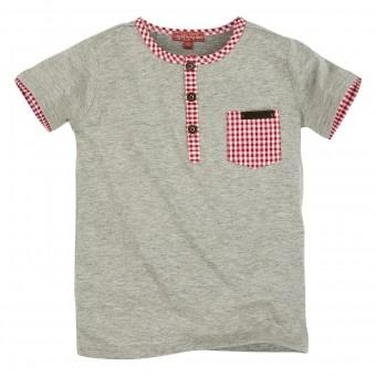 T-shirt met knoopsluiting (kinder T-shirt 1/2 arm)