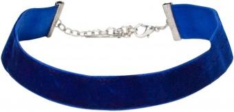 Trachten Samtkropfband breit dunkelblau