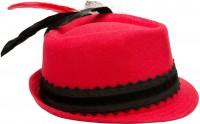 Widok: Lniana czapka Laura czerwona