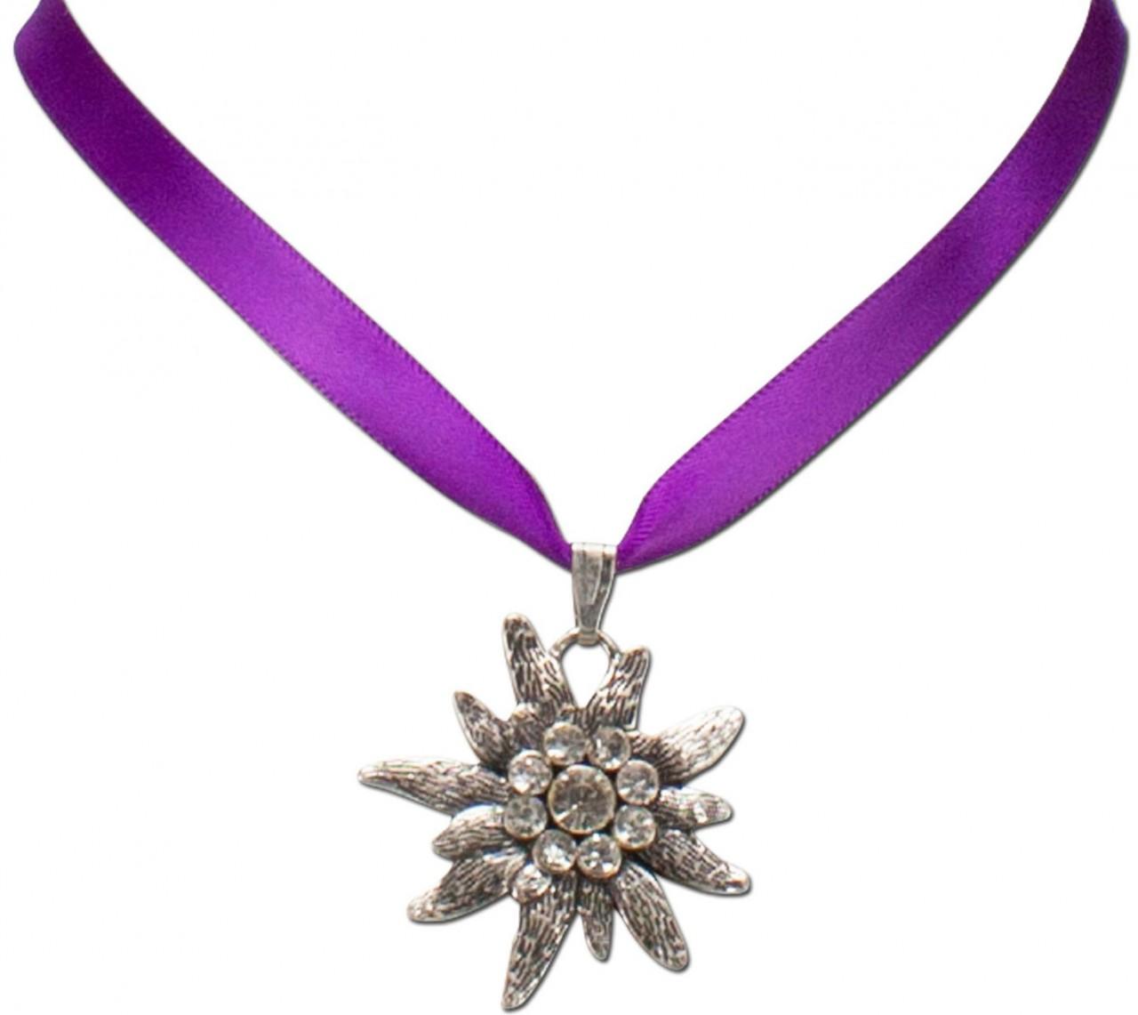Satin-Trachtenkette Marlene lila