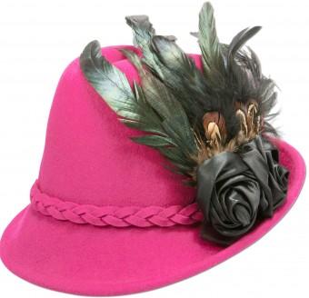 Filcowa czapka Rosalie różowa