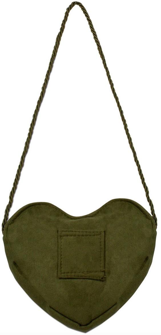Herztasche mit Edelweiß Charivari grün