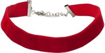 Trachten Samtkropfband breit rot