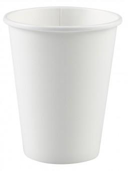 8 weiße Pappbecher 266ml