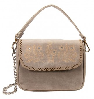 Traditional bag with ornament taupe-gray
