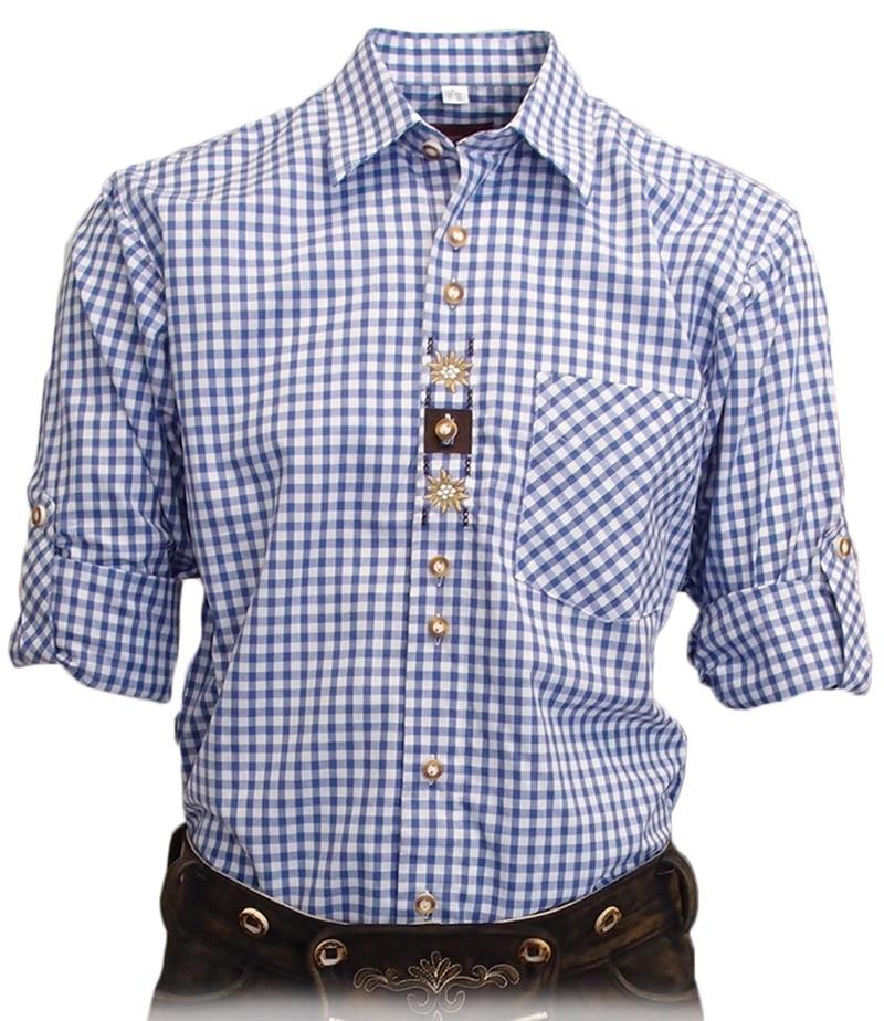 Trachtenhemd Samwell hellblau