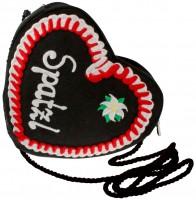 Vorschau: Spatzl Herz Dirndltasche schwarz/rot