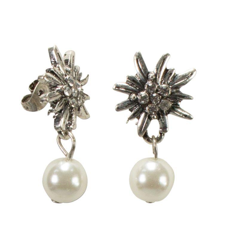 Szmaragdowe kolczyki z perłą