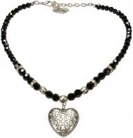 Vorschau: Perlenhalskette Gretl schwarz