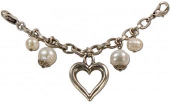 Mini Charivari Chain with Pearls & Heart