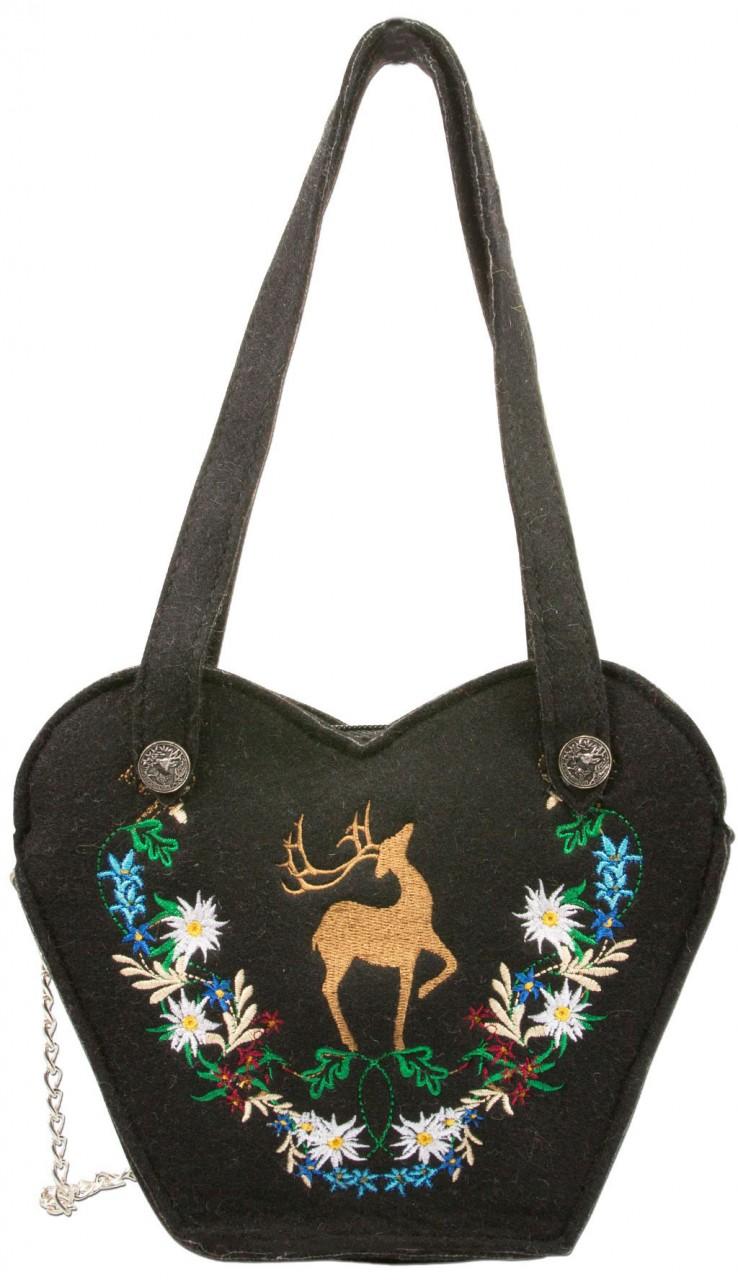 Felt costume bag deer black