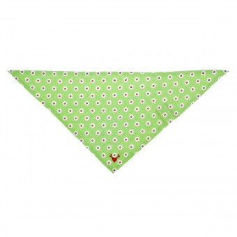 Webtuch alloverdruck grün (Baby Tuch)