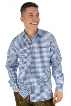 Traditioneel shirt Philipp blauw