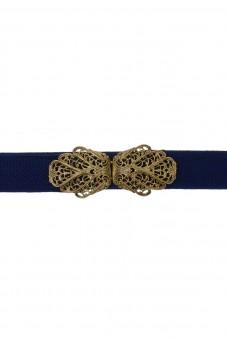 Trachtengürtel Malin blau gold
