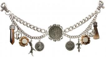 Trachten Charivari Chain Lukas, Antique Silver