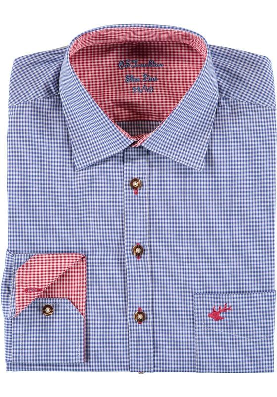 Heren shirt Wiggerl blauw-rood