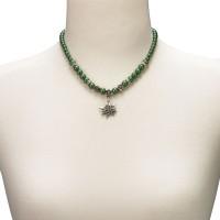 Vorschau: Trachtenkette kleines Edelweiß grün