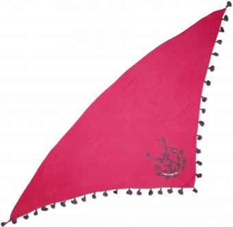 Triangle Neckerchief, Deer Print, Pink