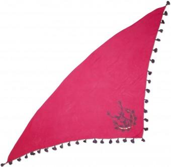 Dreiecks-Trachtentuch Hirsch pink